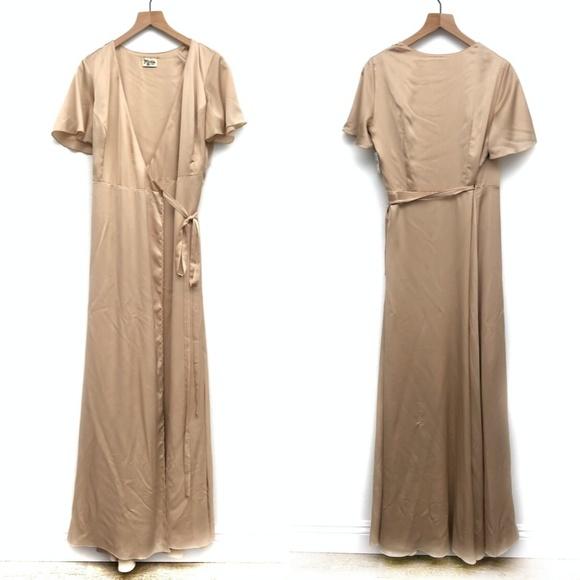 Show Me Your MuMu Dresses & Skirts - Show Me Your Mumu Champagne Gold Dress - Size L